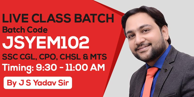 Live Class Batch - English | Batch Code - JSYEM102