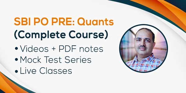 SBI PO PRE: Quantitative Aptitude (Complete Course)