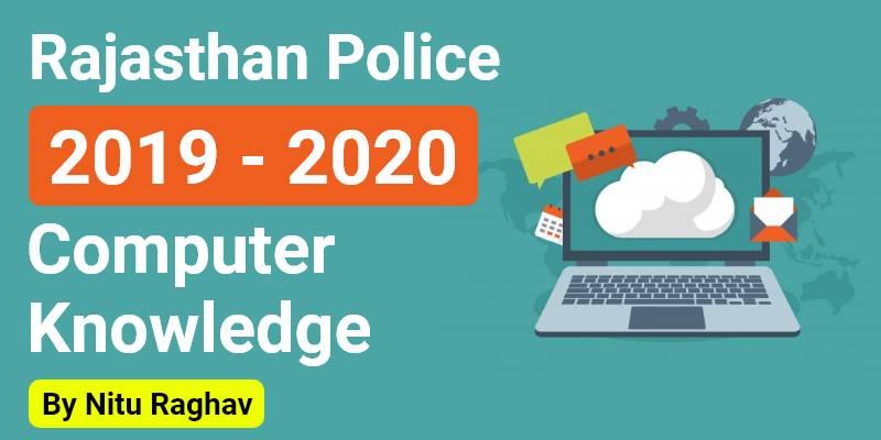 Rajasthan Police 2019 - 2020 | Computer Knowledge By Nitu Raghav