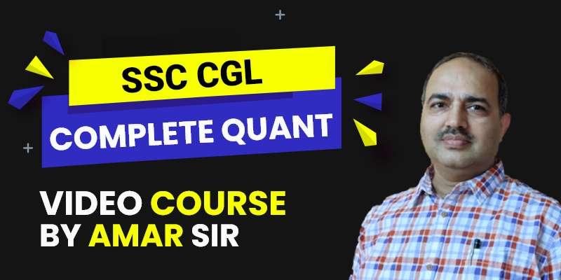 SSC CGL: Complete Quant