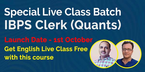 Special Live Class Batch IBPS Clerk