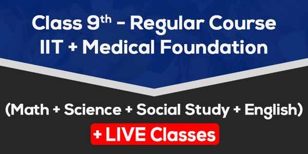 Class 9 - Regular Course + IIT & Medical Foundation