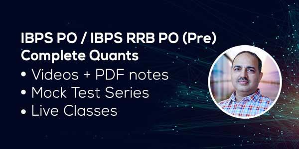 IBPS PO PRE: Quantitative Aptitude (Complete Course)