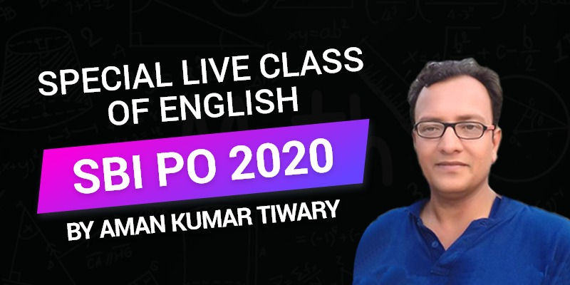 Special Live Class of English | SBI PO 2020